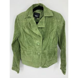 Mossimo Green leather suede blazer S